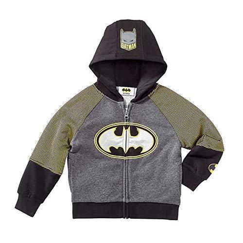 Sweatshirt Dc Fleece (DC Comics Batman Little Boys Zip up Hoodie (5))