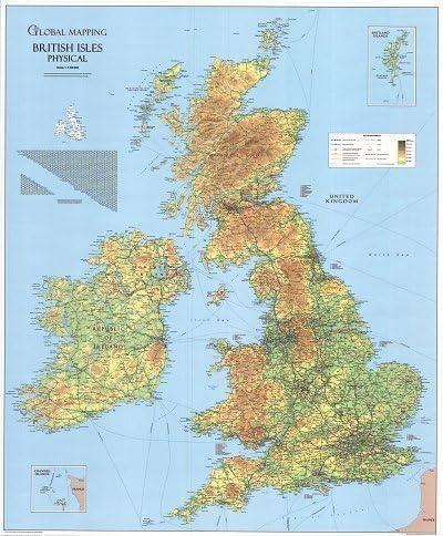 Cartina Geografica Isole Spagna.Britannico Isole Cartina Geografica Proprieta Amazon It Cancelleria E Prodotti Per Ufficio