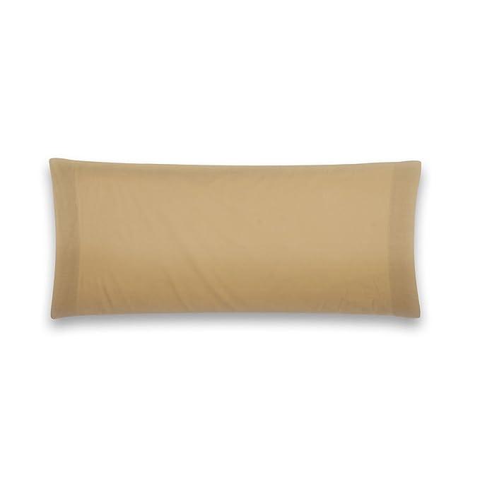 Sancarlos - Funda de almohada para cama, 100% Algodón percal, Color marrón, Cama de 105 cm: Amazon.es: Hogar
