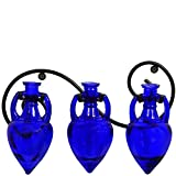 Couronne Company M334-6565G15 Triple Amphora Bottle Wall Sconce, 6oz3, Cobalt Blue, 1 Piece