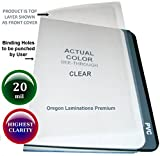 20 Mil Super Thick Clear Plastic Report Binding Cover Sheets 8-1/2 x 11 Qty 100