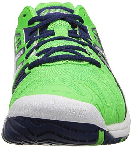 Asics Herren Tennisschuhe, Neo Green/Lightning/Navy - Größe: 42,5 EU (M)