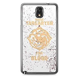 Game of thrones Samsung Note 3 Transparent Edge Case - House Targaryen