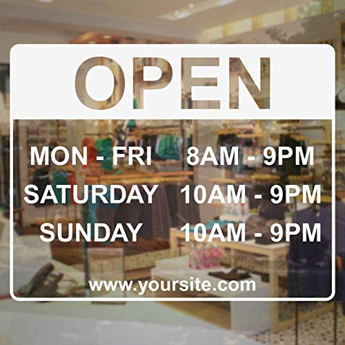 Horario de la tienda Etiqueta de tienda abierta Etiqueta de ...