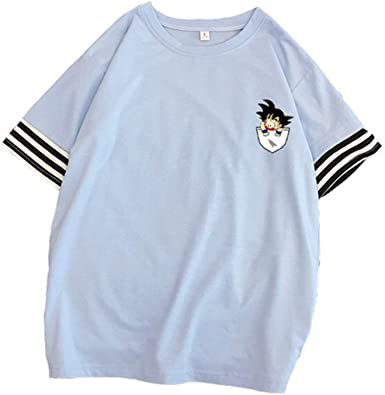 Silver Basic Camiseta Goku Dragon Ball de Moda para Mujer Camisetas de Manga Corta cómodas de Verano Azul-1 2XL…: Amazon.es: Ropa y accesorios