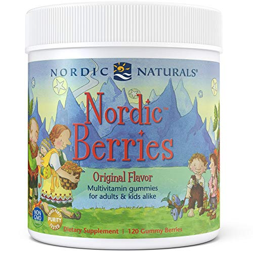 Nordic Naturals Nordic Berries Multivitamin - Chewable Vitamin for Children & Adults Provides Essential Vitamins and Nutrients for Immune System, Bone Health, Development & Overall Health*, 120 Count