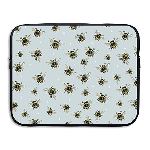 Summer Moon Fire Bumble Bee Pattern Water Repellent Laptop Case Bags Printed Ultrabook Briefcase Sleeve Bags Cover for MacBook Pro/Notebook/Acer/Asus/Lenovo - Bee Bumble Zelda