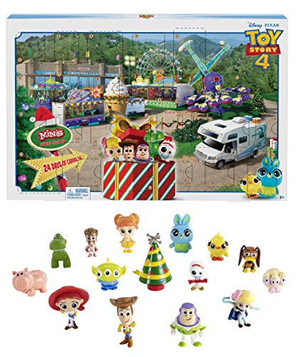Disney Toy Story GKT88 Pixar 4 Movie Advent Calendar, Multicolour