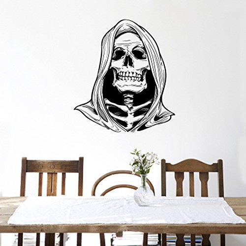 OTTATAT Wall Stickers Flowers 2019,Halloween Skeleton Background Decorated Living Room Bedroom s Easy to Stick Independence Day Museum Gift for Bride On Sale