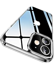 CASEKOO Crystal Clear Designed for iPhone 12 Case, Designed for iPhone 12 Pro Case [Anti-Yellowing] [Military Grade Protection] Shockproof Protective Phone Case Slim Thin Cover (6.1'') 5G 2020- Clear