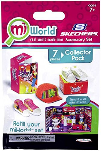 miWorld Mall Sketchers Accessory Set Collector's Pack - Twinkle Toes Shoes and Hat