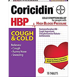 Coricidin HBP Cough and Cold Tablets, 16 Count