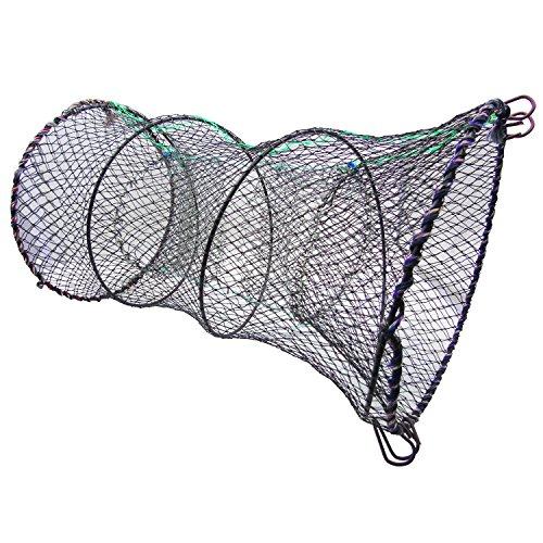 Collapsible Crab Trap Net, Granmp Crab Net Crawfish Trap Nylon Portable Fishing Net Lobster Trap Shrimp Trap Foldable Fish Catch Net Crawdad Net (Traps Lobster Used)