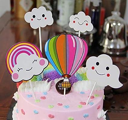 Amazon Com Purearte Cute Happy Birthday Cake Topper For Kids Party