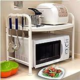Hyun times Kitchen Microwave Shelves Shelf 2 - Store Shelves Oven Shelves Double Storage Shelves Kitchen Supplies Rack