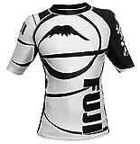 Fuji IBJJF Freestyle Short Sleeve Rash Guard - White