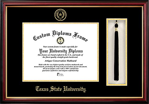 Campus Images TX956PMHGT Texas State, San Marcos Tassel Box and Diploma Frame, 11