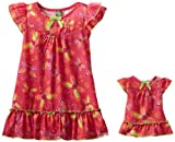 Dollie & Me Little Girls' Dragonfly Print Nightgown