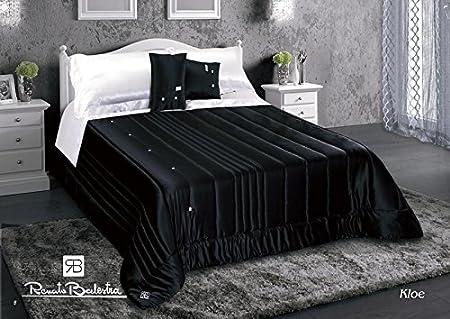 Piumone Matrimoniale Con Strass.Quilt Duvet Renato Balestra Kloe Satin Black Swarovski 2 Cushions