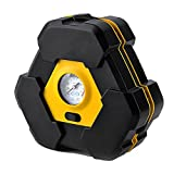 Portable Cigarette lighter 12 Volt Air Compressor Tire Inflator Compact and Fast Air Inflator with Pressure Gauge 150 PSI - Air Pump / Auto Repair Tire Tool Kit. Ideal for Car, Truck, SUV, Bike, Caravan, Camping beds, Sporting Goods, Toys and more
