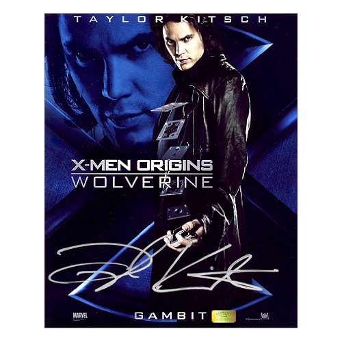 Taylor Kitsch Autographed 8x10 X-Men: Wolverine Gambit Poster