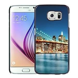 Fashionable Custom Designed Samsung Galaxy S6 Phone Case With New York City Bridge Sunrise_Black Phone Case
