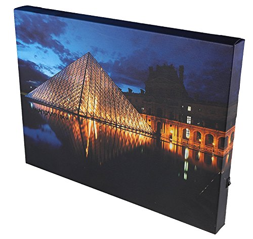 Zebra Jazz Shoes (Paris Louvre at Night Wall-Hanging Canvas Wrap Artwork with LED Lighting - 11.75