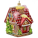 Miss Christmas 2019 Collection Cute as Candy Gingerbread House 5.5-Inch Blown Glass Christmas Tree Ornament