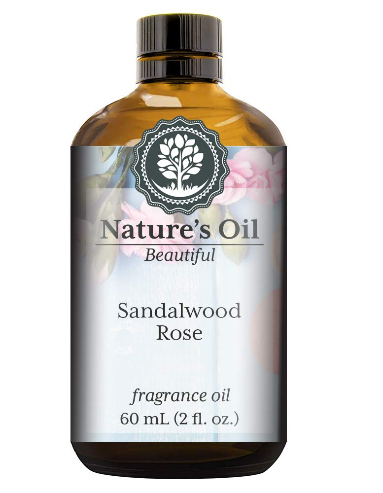 Sandalwood Rose Fragrance Oil (60ml) For Perfume, Diffusers, Soap Making, Candles, Lotion, Home Scents, Linen Spray, Bath Bombs, Slime