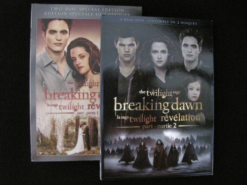 Twilight: Breaking Dawn Part 1 and Part 2 (2-disc Editions) (Breaking Dawn Part 2 Dvd)