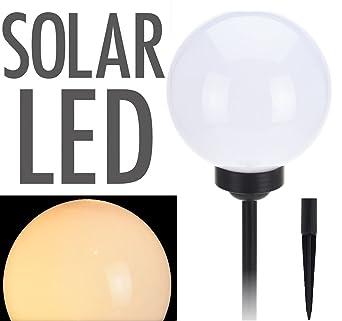 LED Solar Leuchtkugel - Kugelleuchte 20 cm in warmweiß ...