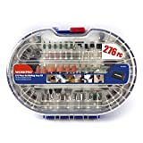 WORKPRO 276-piece Rotary Tool Accessories Kit Universal Fitment for Easy Cutting, Carving and Polishing