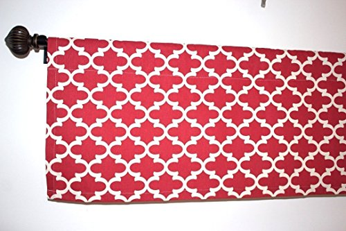 SALE CLEARANCE Lowest Price RED and WHITE color Kitchen Curtain Kitchen Decor Window valance premier print cotton 54x13, 54x14, 54x17, 54x20, 54x22]()