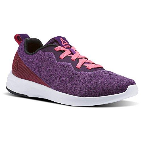 Reebok Women's Astroride Perigee Sneaker, Aubergine/Acid Pin