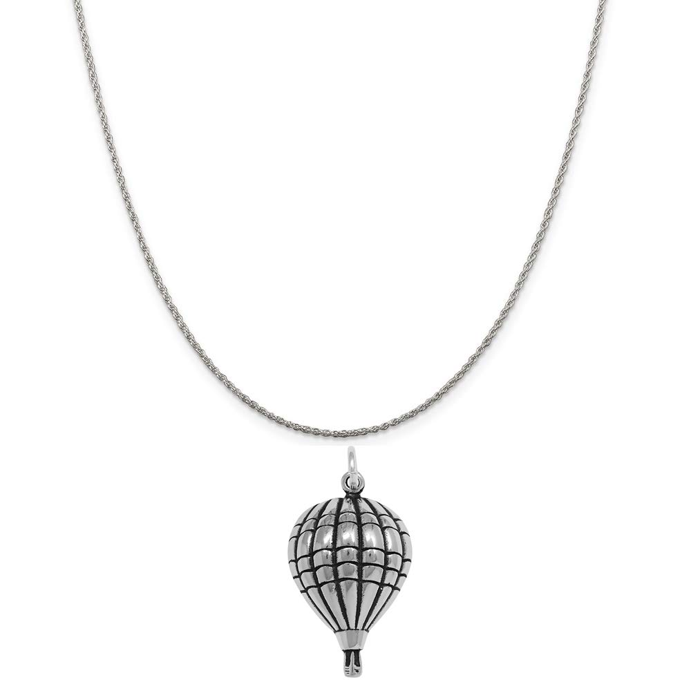 16, 18 or 20 Chain Raposa Elegance Sterling Silver Hot Air Balloon Charm Necklace