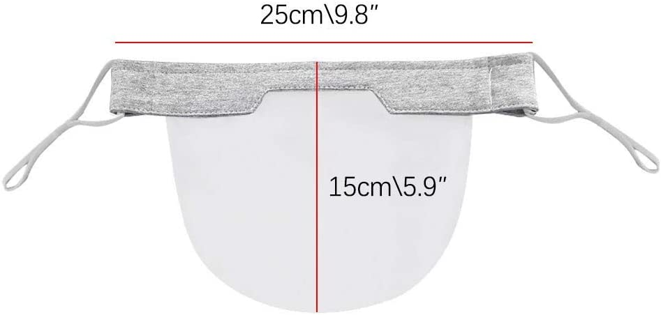 Riding Protective Safe Protect Face Shield Mini Shield Washable Reusable Comfortable Shield Transparent PVC Visual Shield Windproof Bandana 1//5PCS