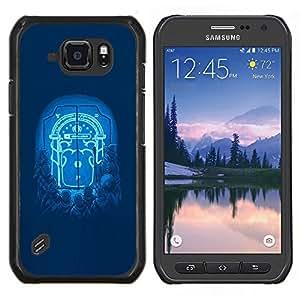 LECELL--Funda protectora / Cubierta / Piel For Samsung Galaxy S6Active Active G890A -- Moonlight Puerta --