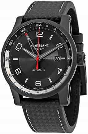 Montblanc Timewalker Urban Automatic Black Dial Black Leather Mens Watch 113876