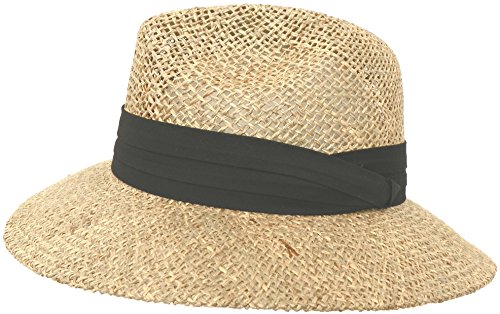 sted Seagrass Hat (Black Band) (Twisted Seagrass Straw Hat)