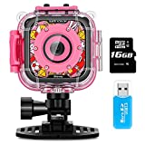 Waterproof Camera for Kids,IMoway HD 1080P Kids Video Camera with 8GB Memory Card