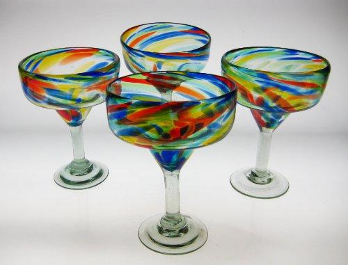 Mexican Glass Margarita Confetti Swirl 4