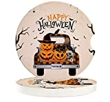 Halloween Absorbent Car Coasters for Drinks 2