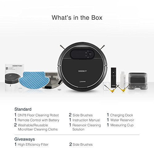 Ecovacs Robotic Vacuum Cleaner Tangle Free Suction For