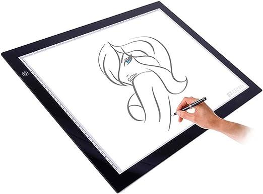 Copy board Caja de luz LED para Dibujo, tamaño A3, superfina, para Dibujar y copiar, luz con Brillo Ajustable, para Dibujar y Dibujar: Amazon.es: Hogar
