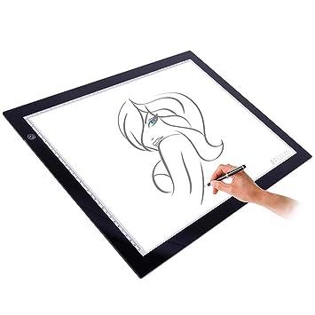 Mesa de Luz Dibujo,A3 LED Mesas de Dibujo Light Pad Brillo ...