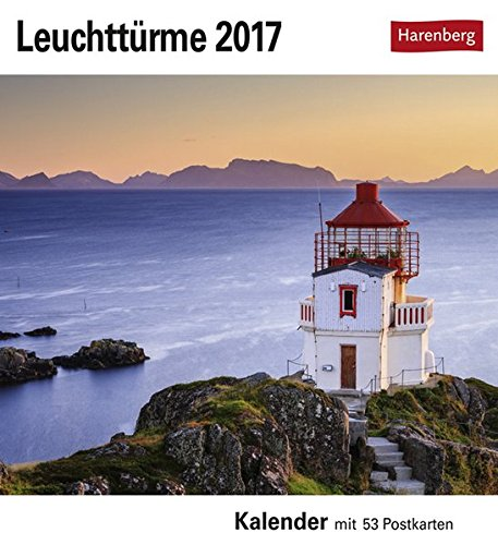 Leuchttürme - Kalender 2017: Kalender mit 53 Postkarten