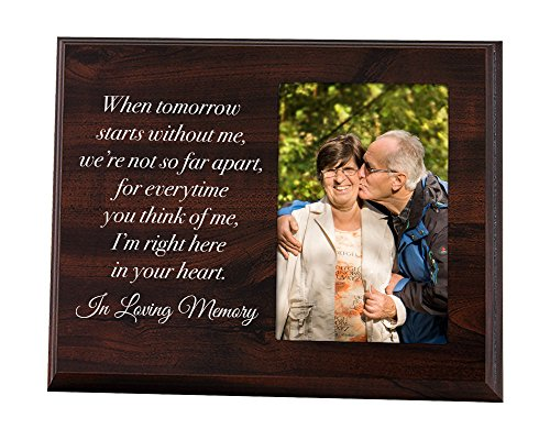 Elegant Signs Memorial Picture Frame - Keepsake Plaque that