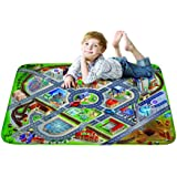 Kids Ultra Soft Play Mat Car for Children Learnig Carpet Area Rugs - District Design 39x59 inch