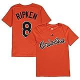 Cal Ripken Jr Baltimore Orioles Orange Youth Net Name and Number T Shirt