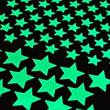 Glow in The Dark Star Stickers for Wall and Ceiling - Perfect for Child Bedroom or Kid Playroom for Starry Sky Look - Bright All Night (172 Stars - 28 Large, 144 Small)